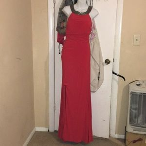 Deb Long Semi Red Dress